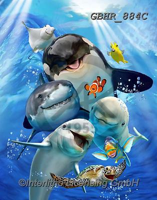 Howard, SELFIES, paintings+++++,GBHR884C,#Selfies#, EVERYDAY ,underwater,maritime,dolphins ,sharks,maritime