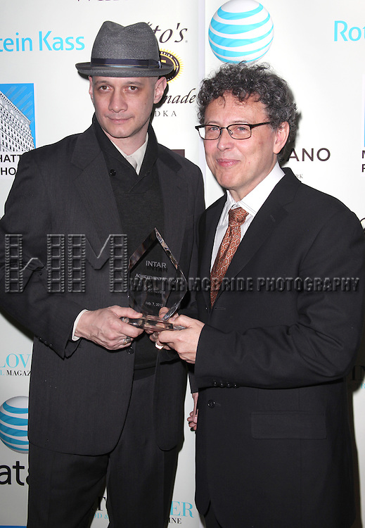 Lou Moreno & Jose Rivera.attending the 1st Annual INTAR Gala: Celebrating the Impact of Latino Theater at Manhattan Penthouse in New York City. 2/4/2012.