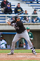 Quad Cities River Bandits first baseman Jake Adams (23) at bat during a Midwest League game against the Beloit Snappers on May 20, 2018 at Pohlman Field in Beloit, Wisconsin. Beloit defeated Quad Cities 3-2. (Brad Krause/Four Seam Images)