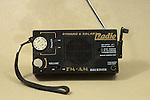 Emergency hand cranked and solar radio