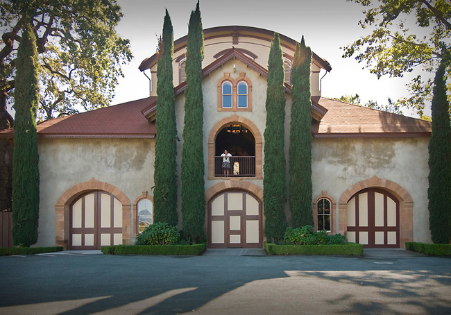 Restored carriage house of Charles Krug winery.