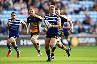 Jack Walker of Bath Rugby in possession. Heineken Champions Cup match, between Wasps and Bath Rugby on October 20, 2018 at the Ricoh Arena in Coventry, England. Photo by: Patrick Khachfe / Onside Images