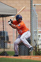 Houston Astros Kevin Martir (77) during an instructional league game against the Atlanta Braves on October 1, 2015 at the Osceola County Complex in Kissimmee, Florida.  (Mike Janes/Four Seam Images)