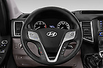 Car pictures of steering wheel view of a 2015 Hyundai H350 Travel Plus Pack 4 Door Cargo Van 2WD Steering Wheel