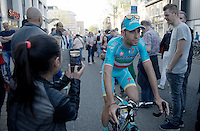 Vincenzo Nibali (ITA/Astana) in the streets of Apeldoorn (NLD) after the Grande Partenza team presentation of the 99th Giro d'Italia 2016 on the evening before the 1st stage