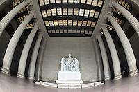 Interior of Lincoln Memorial, Washington, D.C.