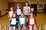 Children from the Sharon Costello Speech and Drama class in the Clubrooms,  Castlegregory, received their certificates and medals for taking part in the Acting and Performance exams with the Irish Board of Speech and Drama. Front l-r were: Katie Crean, Anna Roberts and Molly McSweeney. Back l-r were: Josh Roberts, Caitlin Smith, Sharon Costello (drama teacher) and Adam O'Brien.