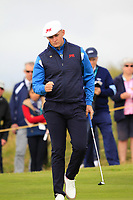 Harry Hall (GB&I) on the 4th during the Foursomes at the Walker Cup, Royal Liverpool Golf CLub, Hoylake, Cheshire, England. 07/09/2019.<br /> Picture Thos Caffrey / Golffile.ie<br /> <br /> All photo usage must carry mandatory copyright credit (© Golffile | Thos Caffrey)