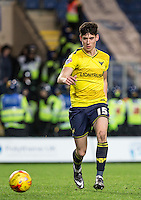 Callum O'Dowda of Oxford United in action during the Johnstone's Paint Trophy Southern Final 2nd Leg match between Oxford United and Millwall at the Kassam Stadium, Oxford, England on 2 February 2016. Photo by Andy Rowland / PRiME Media Images.