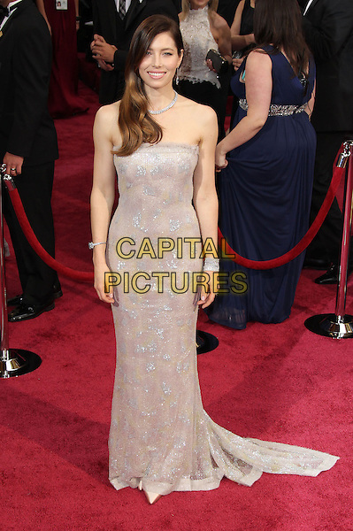 02 March 2014 - Hollywood, California - Jessica Biel. 86th Annual Academy Awards held at the Dolby Theatre at Hollywood &amp; Highland Center. <br /> <br /> CAP/ADM/RE<br /> &copy;Russ Elliot/AdMedia/Capital Pictures