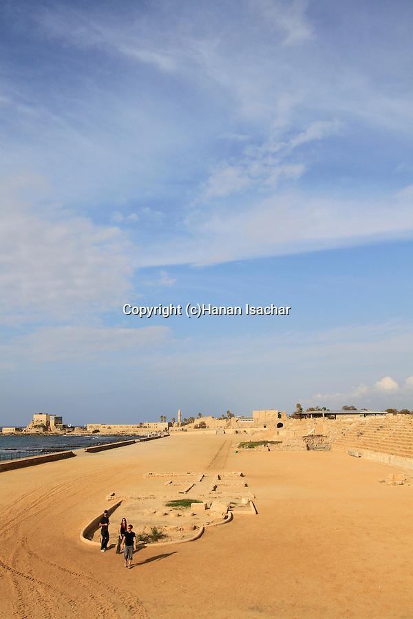 Israel, Sharon region, the Hippodrome in Caesarea