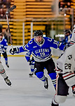 29 December 2018: University of Alabama Huntsville Charger Forward Brandon Salerno, a Junior from Toronto, Ontario, in first period action against the Northeastern University Huskies at Gutterson Fieldhouse in Burlington, Vermont. The Huskies shut out the Chargers 2-0 in the Catamount Cup tournament at the University of Vermont. Mandatory Credit: Ed Wolfstein Photo *** RAW (NEF) Image File Available ***