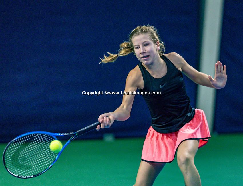 Hilversum, Netherlands, December 2, 2018, Winter Youth Circuit Masters, Isis van den Broek (NED)<br /> Photo: Tennisimages/Henk Koster