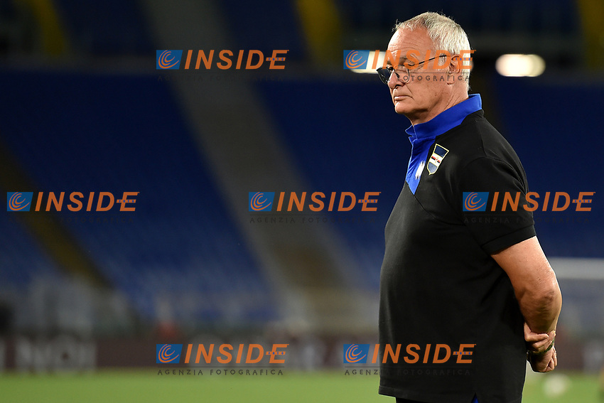 Claudio Ranieri of UC Sampdoria looks on prior to the Serie A football match between AS Roma and UC Sampdoria at Olimpico stadium in Rome ( Italy ), June 24th, 2020. Play resumes behind closed doors following the outbreak of the coronavirus disease. AS Roma won 2-1 over UC Sampdoria. <br /> Photo Andrea Staccioli / Insidefoto