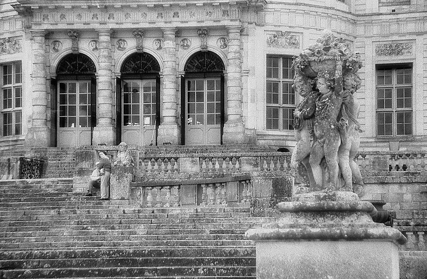 Arch and column detail, Vaux le Vicomte, Louis XIV, France