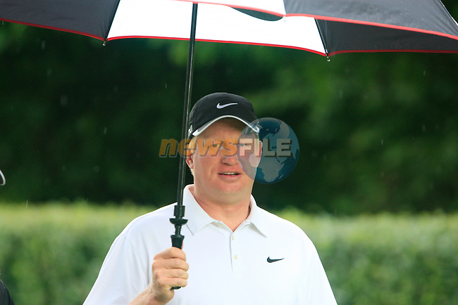 Richard Finch (ENG) walks off the 1st tee to start his round during of Day 3 of the BMW International Open at Golf Club Munchen Eichenried, Germany, 25th June 2011 (Photo Eoin Clarke/www.golffile.ie)