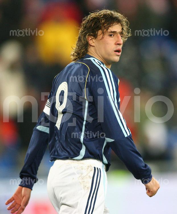 Fussball International Testspiel Kroatien - Argentinien Hernan Crespo (ARG)