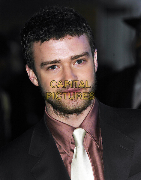 JUSTIN TIMBERLAKE.Brit Awards 2004 at Earl's Court.17 February 2004.headshot, portrait, stubble, scuffy, facial hair, beard.www.capitalpictures.com.sales@capitalpictures.com.©Capital Pictures