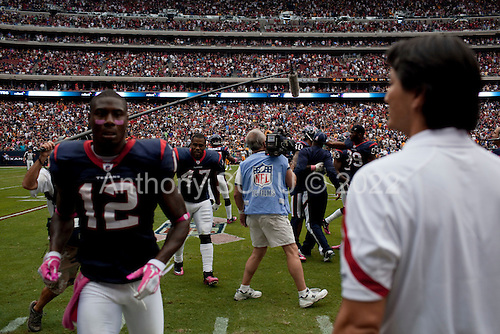 Houston, Texas<br /> October 2, 2011<br /> <br /> The Houston Texans celebrate their victory against the Pittsburgh Steelers at the Reliant Stadium. The Texans won 17 to 10.
