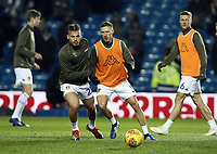 Leeds United's Kalvin Phillips (left) and Barry Douglas during the pre-match warm-up <br /> <br /> Photographer Rich Linley/CameraSport<br /> <br /> The EFL Sky Bet Championship - Leeds United v Reading - Tuesday 27th November 2018 - Elland Road - Leeds<br /> <br /> World Copyright &copy; 2018 CameraSport. All rights reserved. 43 Linden Ave. Countesthorpe. Leicester. England. LE8 5PG - Tel: +44 (0) 116 277 4147 - admin@camerasport.com - www.camerasport.com