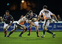 Match action during the Greene King IPA Championship match between London Scottish Football Club and Ealing Trailfinders at Richmond Athletic Ground, Richmond, United Kingdom on 26 December 2015. Photo by Alan  Stanford / PRiME Media Images