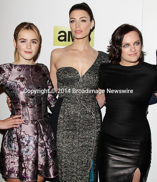 Pictured: Kiernan Shipka, Jessica Pare, Elisabeth Moss<br /> Mandatory Credit &copy; Frederick Taylor/Broadimage<br /> &quot;Mad Men&quot; Season 7 Premiere <br /> <br /> 4/2/14, Hollywood, California, United States of America<br /> <br /> Broadimage Newswire<br /> Los Angeles 1+  (310) 301-1027<br /> New York      1+  (646) 827-9134<br /> sales@broadimage.com<br /> http://www.broadimage.com