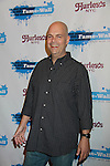 """Brad Oscar - Addams Family """"Uncle Fester poses at Fame-Wall New York with the unveiling of her portrait by famed painter Jim Warren and a celebration of Broadway's The Addams Family at a Halloween Party on October 28, 2011 at Hurley's NY, New York City, New York.  (Photo by Sue Coflin/Max Photos)"""