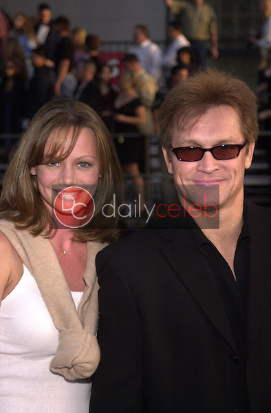 Andrew Stevens and wife