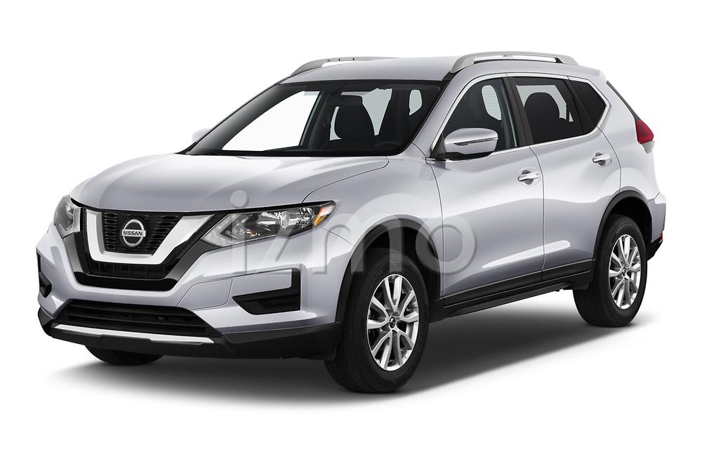 2019 Nissan Rogue SV 5 Door SUV angular front stock photos of front three quarter view