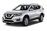 2019 Nissan Rogue SV 5 Door SUV angular front stock photos of front three quarter view