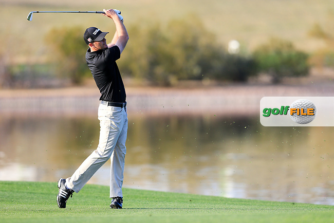 Brendan Steele (USA) on the 15th fairway during the 2nd round of the Waste Management Phoenix Open, TPC Scottsdale, Scottsdale, Arisona, USA. 01/02/2019.<br /> Picture Fran Caffrey / Golffile.ie<br /> <br /> All photo usage must carry mandatory copyright credit (&copy; Golffile | Fran Caffrey)