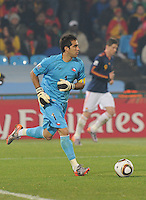 Chile goalkeeper Claudio Bravo. Spain won Group H following a 2-1 defeat of Chile in Pretoria's Loftus Versfeld Stadium, Friday, June 25th, at the 2010 FIFA World Cup in South Africa..