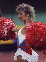 Montreal Concordes cheerleader 1985. Photo F. Scott Grant