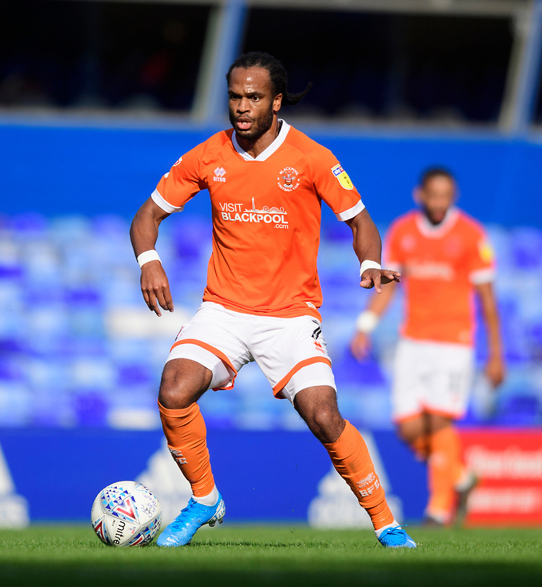 Blackpool's Nathan Delfouneso<br /> <br /> Photographer Chris Vaughan/CameraSport<br /> <br /> The EFL Sky Bet League One - Coventry City v Blackpool - Saturday 7th September 2019 - St Andrew's - Birmingham<br /> <br /> World Copyright © 2019 CameraSport. All rights reserved. 43 Linden Ave. Countesthorpe. Leicester. England. LE8 5PG - Tel: +44 (0) 116 277 4147 - admin@camerasport.com - www.camerasport.com