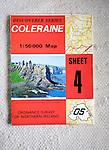 Discoverer series 1:50,000 ordnance survey map of Coleraine, Northern Ireland sheet 4