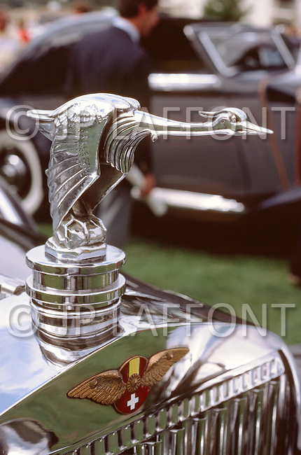 August 26th, 1984. Hispano-Suiza detail of radiator.