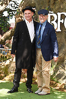 "Mark Rylance and Steven Spielberg<br /> arrives for the ""BFG"" premiere at the Odeon Leicester Square, London.<br /> <br /> <br /> ©Ash Knotek  D3141  17/07/2016"