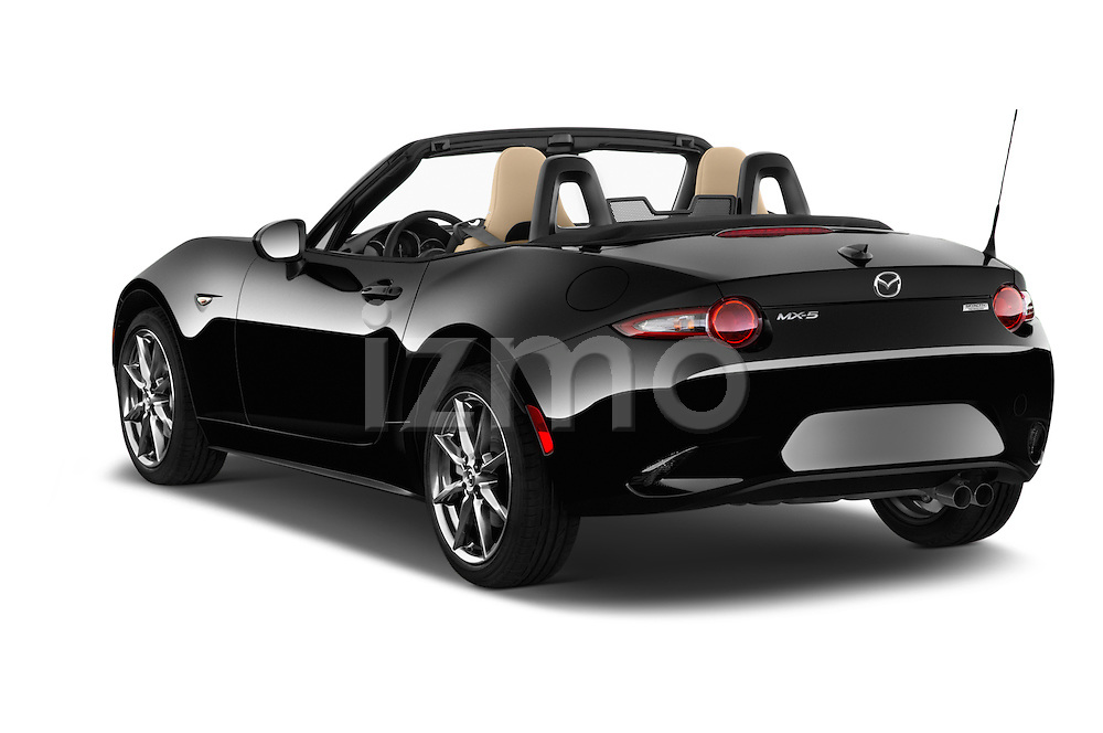 Car pictures of rear three quarter view of 2016 Mazda MX-5 Miata Grand Touring 2 Door Convertible Angular Rear