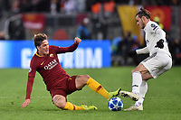 Gareth Bale Real, Nicolo Zaniolo Roma.<br />  during the Uefa Champions League 2018/2019 Group G football match between AS Roma and Real Madrid at Olimpico stadium Allianz Stadium, Rome, November, 27, 2018 <br />  Foto Antonietta Baldassarre / Insidefoto