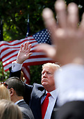 "United States President Donald J. Trump hosts a Celebration of America on the South Lawn of the White House, in Washington, D.C., on June 5, 2018.  The President came-up with this event after he uninvited the Super Bowl Champion Philadelphia Eagles to the White House for the traditional Presidential celebration.  In a statement, the President said ""They disagree with their President because he insists that they proudly stand for the National Anthem, hand on heart, in honor of the great men and women of our military and the people of our country.  The Eagles wanted to send a smaller delegation, but the 1,000 fans planning to attend the event deserve better.""<br /> Credit: Martin H. Simon / CNP"