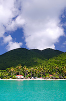 Maho Bay with new pavilions<br /> Virgin Islands National Park<br /> St. John<br /> U.S. Virgin Islands