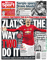 Daily Mirror 02-Mar-2017 - 'ZLAT'S THE WAY TWO DO IT' - Photo by Rob Newell (Camerasport via Getty Images)