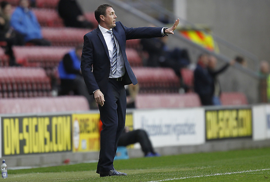 Wigan Athletic's Manager Malky Mackay<br /> <br /> Photographer Mick Walker/CameraSport<br /> <br /> Football - The Football League Sky Bet Championship - Wigan Athletic v Middlesbrough - Saturday 22nd November 2014 - DW Stadium - Wigan<br /> <br /> &copy; CameraSport - 43 Linden Ave. Countesthorpe. Leicester. England. LE8 5PG - Tel: +44 (0) 116 277 4147 - admin@camerasport.com - www.camerasport.com