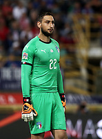 Football: Uefa Nations League match Italy vs Poland, Renato Dall'Ara stadium, Bologna, Italy, September 7, 2018. <br /> Italy's goalkeeper Gianluigi Donnarumma looks on during  the Uefa Nations League match between Italy and Poland at the Renato Dall'Ara stadium, Bologna, Italy, September 7, 2018. <br /> <br /> UPDATE IMAGES PRESS/Isabella Bonotto