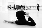 ENB dancer Maria Jose Sales taking part in class.