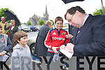 Brian Cowan on a visit to Listowel.
