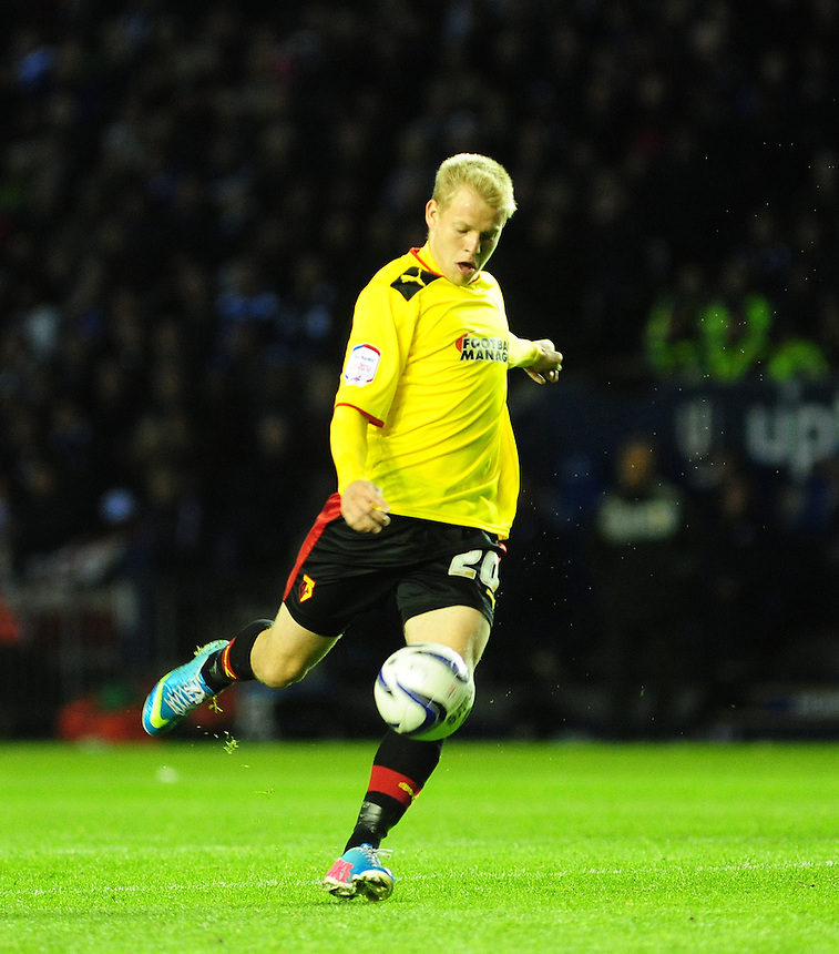Watford's Matej Vydra .. - (Photo by Chris Vaughan/CameraSport) - ..Football - npower Football League Championship Play-Offs Semi-Final First Leg - Leicester City v Watford - Thursday 9th May 2013 - King Power Stadium - Leicester..© CameraSport - 43 Linden Ave. Countesthorpe. Leicester. England. LE8 5PG - Tel: +44 (0) 116 277 4147 - admin@camerasport.com - www.camerasport.com