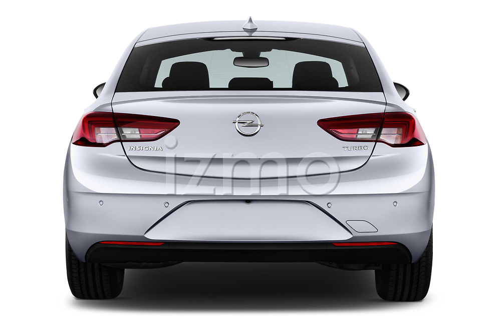Straight rear view of 2017 Opel Insignia Grand Sport Dynamic 5 Door Hatchback stock images