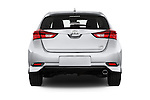 Straight rear view of 2017 Toyota Corolla-iM CVT-Automatic 5 Door Hatchback Rear View  stock images