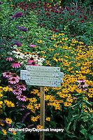63821-07318 Garden Poem on sign in Bird Flower Garden Marion Co.  IL